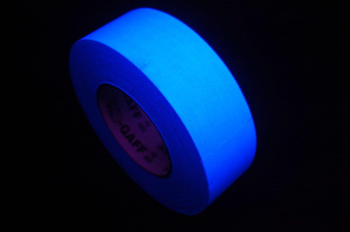 "2 Inch UV Blacklight Reactive Fluorescent Gaffer Tape 2/"" x 50 Yards per roll"
