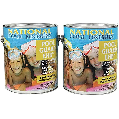 - National Pool Finishes Pool Guard EHB - Epoxy High Build - Semi-Gloss Finish - 2 Gallon Kit (#6504K Royal Blue)