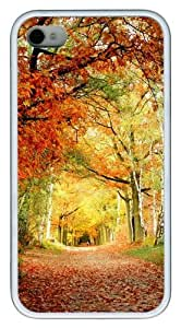 iPhone 4S Case, Red Foliage TPU Custom iPhone 4/4S Case Cover Whtie