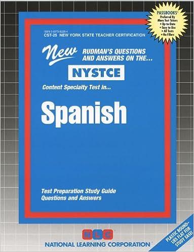 Spanish (NYS Teacher Certification) (Passbooks for National Teacher ...