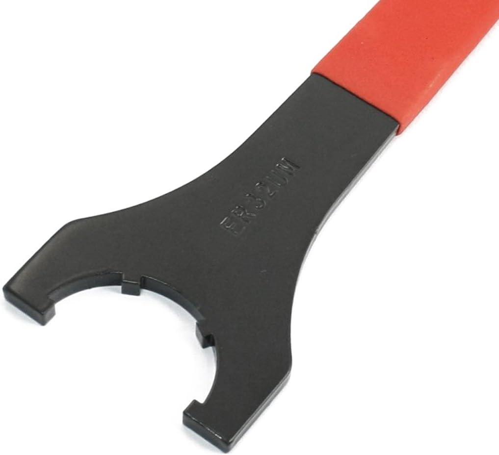 Rouge RETYLY Clef a molette de precision en caoutchouc rouge ER-32 pour le fraisage de commande numerique par lordinateur