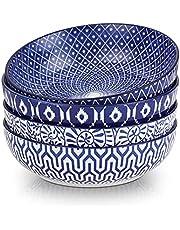 Selamica Ceramic 8-inch Printing Bowls Set of 4