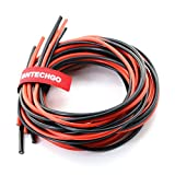 BNTECHGO 12/14/16 Gauge Silicone Rubber Wire 36ft (6ft Red and 6ft Black:12AWG,14AW and 16AWG) Soft Flexible 600V 200? High Resistant Silicone Wire Tinned Copper Conductor Wire
