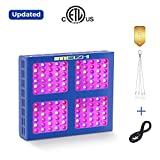 600W LED Grow Light MEIZHI Updated Version Reflector Series Full Spectrum for Indoor Plants Veg and Flower – Dual Switches and Daisy Chain 600w led Grow Light For Sale