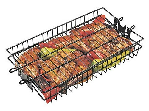 - Mikash 24785 Non-Stick Flat Spit Rotisserie Grill Basket, 16 x 7.5 x 2 | Model GRLLST - 211