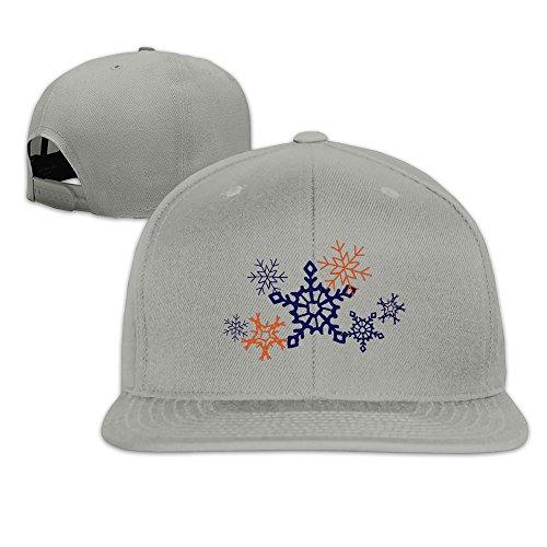 - Beetful Sketchy Snowflake Cluster Plain Adjustable Snapback Hats Caps Ash
