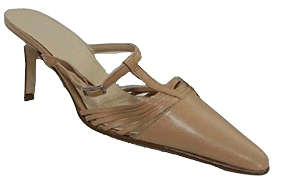 Ex NEXT Pointed Toe Real Leather Slip On Mules B00VK068UK
