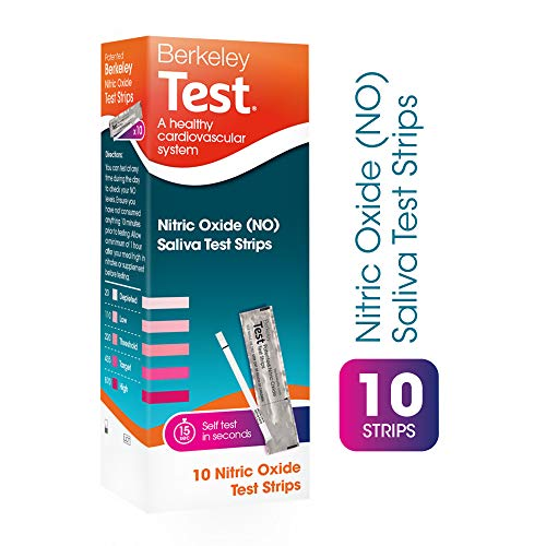 Berkeley Test Nitric Oxide Saliva Test Strips | Disposable & Non-Invasive | Nitrite Indicator | Indicates Nitric Oxide Levels For Health & Fitness (10 pack)
