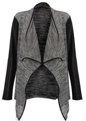 imitation Cardigan drap New PVC Ladies cuir Z4HqE