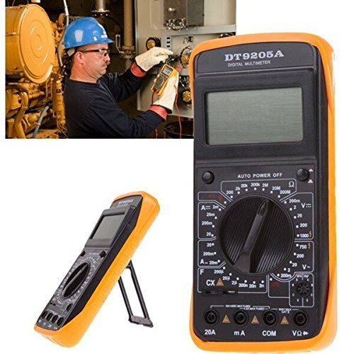 - DT9205A Handheld LCD Display Digital Multimeters DMM with AC/DC AmpVolt Resistance Capacitance Test