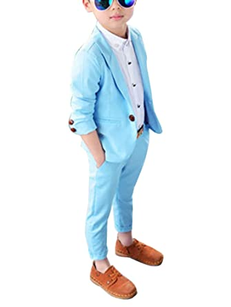 pantalon Blazer Pour Veste Costume 2 Ensemble Garçon Pièces De X8xgn0qwRC