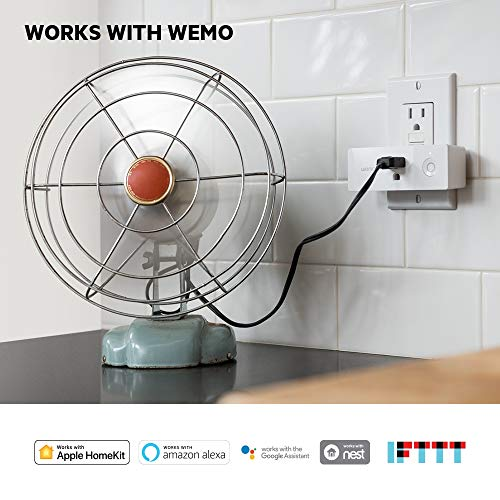 Wemo Mini Smart Plug (2-Pack), Wi-Fi Enabled, Works with Amazon Alexa (F7C063-RM2) (Certified Refurbished) by WeMo (Image #2)