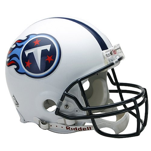 Nfl Tennessee Titans Helmet (NFL Tennessee Titans Full Size Proline VSR4 Football Helmet)