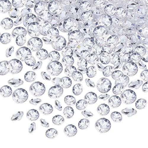 10000 Clear Wedding Table Scatter Confetti Crystals Acrylic Diamonds Rhinestones for Table Centerpiece Decorations Wedding Decorations Bridal Shower Decorations Vase Beads (Clear, 4.5 MM and 6 MM)