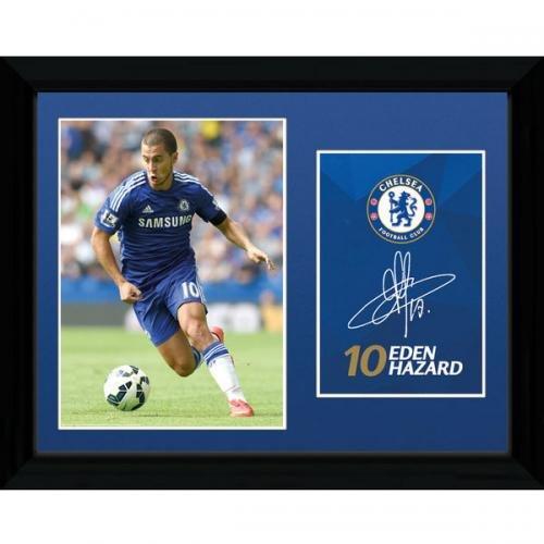 Chelsea Hazard Framed Poster