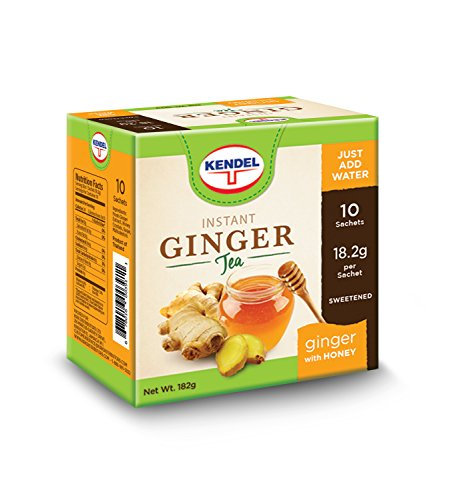 Kendel Instant Ginger Tea With Honey. Therapeutic Relief, Nausea, Pain Relief, Indigestion, Nasal Congestion