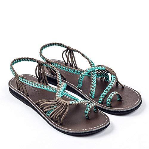 Plaka Flat Sandals for Women Palm Lea