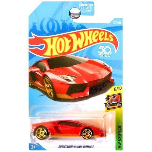 Hot Wheels 2018 HW Exotics Lamborghini Aventador Miura Homage 239/365, Red