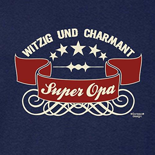 Großvater Fun-T-shirt als Top Geschenk mit GRATIS Urkunde - Super Opa Farbe: navy-blau Gr: XXL