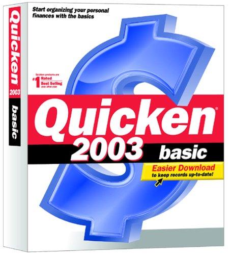 Intuit Quicken 2003 Basic