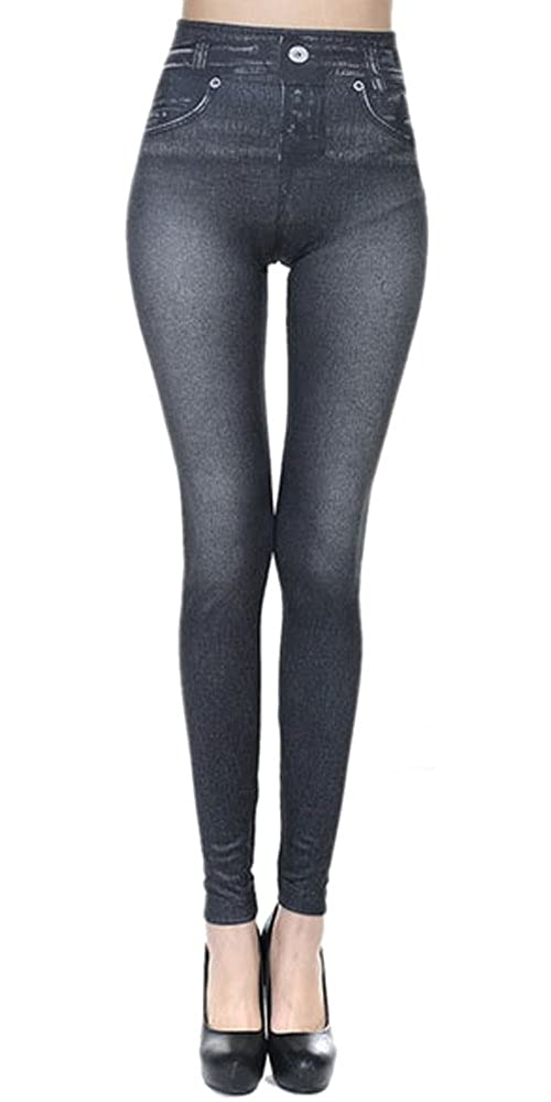 3704cec5e8ab13 BOZEVON Womens Leggings Sexy Skinny Stretchy Fitted Trousers Jeggings  Imitation Jeans Ladies Slim-fit Pants: Amazon.co.uk: Clothing