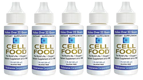 Cellfood Concentrate - Cellfood Liquid Concentrate, 1 oz. Bottle (Pack of 5) - Original Oxygenating Formula Containing Seaweed Sourced Minerals, Enzymes, Amino Acids, Electrolytes, Superior Absorption- Gluten Free, GMO Free