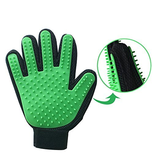 Butchie Boyz Pet Deshedding Glove - Double-sided Shedding Brush - Hair Remover For Dogs and Cats -Pet Grooming Tool Fits Right & Left Hands - 1 Glove Fits Both Hands