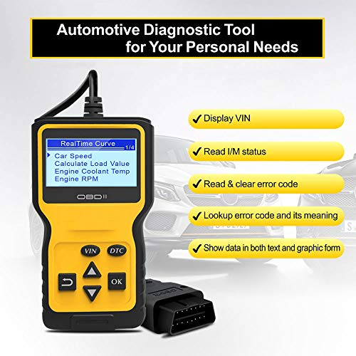 Panlong OBDII OBD2 Scanner Check Engine Light (MIL) Car Diagnostic Code Reader Scan Tool by Panlong (Image #2)
