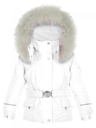 8e3aec170f39 Poivre Blanc-Veste de Ski Tissus imperméable Blanc du 18 Mois au 3 Ans bébé  Fille  Amazon.fr  Vêtements et accessoires