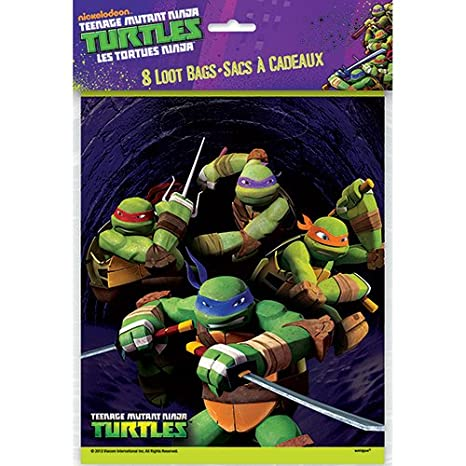 Teenage Mutant Ninja Turtles Goodie Bags, 8ct