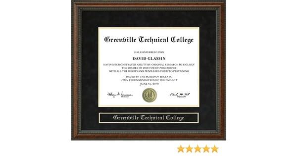 Wordyisms Greenville Technical College Greenville Tech Walnut Burl Diploma Frame