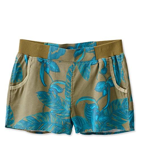 KAVU Women's Riverbank Shorts, Moss Palms, Medium