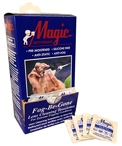 Magid Glove & Safety TW100DS Anti-Fog Anti-Static Wipes (Pack of 100)