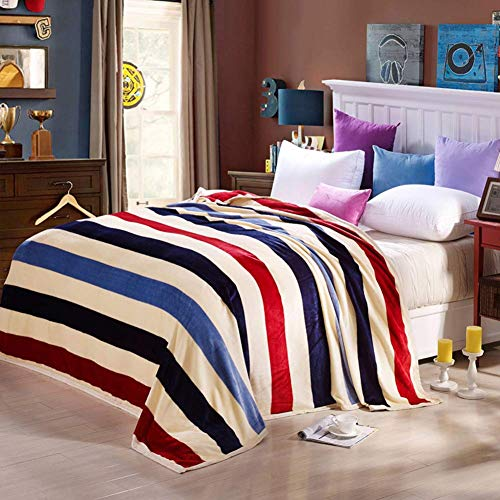 (Smibra Luxury Kids Elegance Pattern Blankets Thick Easy Care Soft Comfortable Bed Chair Blankets Warm Throw for Baby and Adults-002(W60 x L78 Inch, Blue2))
