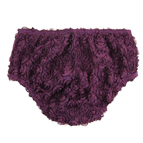 Kirei Sui Baby Girls Rosettes Bloomers Dark Purple