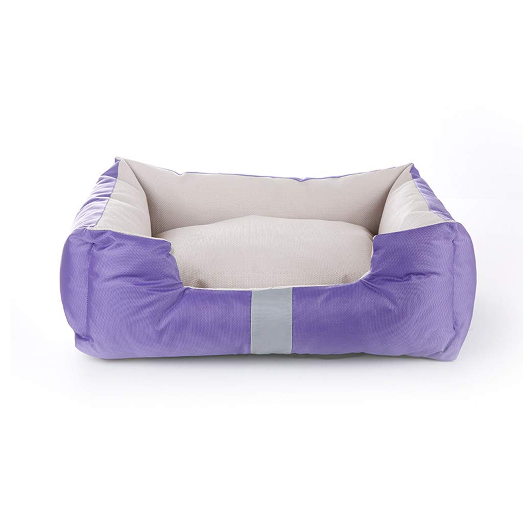 Purple S 554519cm Purple S 554519cm LITING Kennel Removable and Washable golden Retriever Mattress Small Medium Large Dog Winter Warm Pet Nest Cat Litter (color   Purple, Size   S 55  45  19cm)