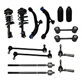 Detroit Axle - New Complete 14pc Suspension Kit -10-Year Warranty Front: Both (2) Complete Front Strut, Both (2) Lower Control Arm & Ball Joint, All (4) Tie Rod, All (4) Sway Bar Link, 2 Tie Rod Boot