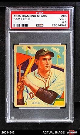 Amazoncom 1935 Diamond Stars 68 Sam Leslie Baseball Card Psa