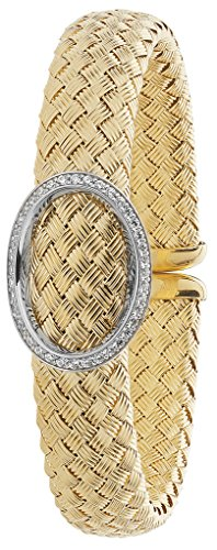 Bracelet Jonc en argent sterling 925plaqué or jaune