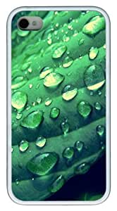 iPhone 4S Case,Morning Dew TPU Custom iPhone 4/4S Case Cover Whtie