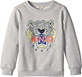 Kenzo Kids Baby Girl's Sweat Classic Tiger (Toddler/Little Kids) MARL Grey 6A