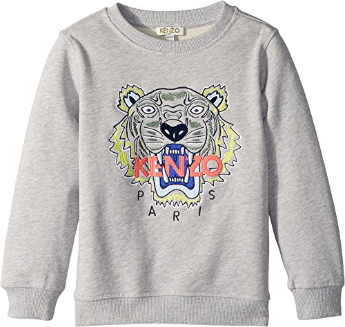 Kenzo Kids Baby Girl's Sweat Classic Tiger (Toddler/Little Kids) MARL Grey 2A (2 Toddler) by Kenzo Kids
