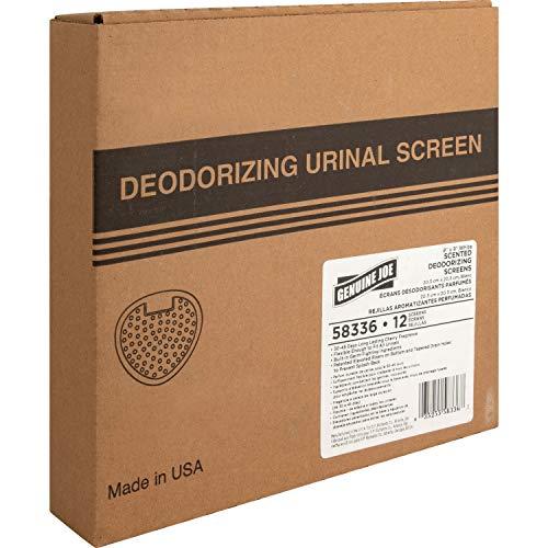 Genuine Joe 58336 Urinal Screen, 30-45 Days, 12/BX, Cherry Scent/White