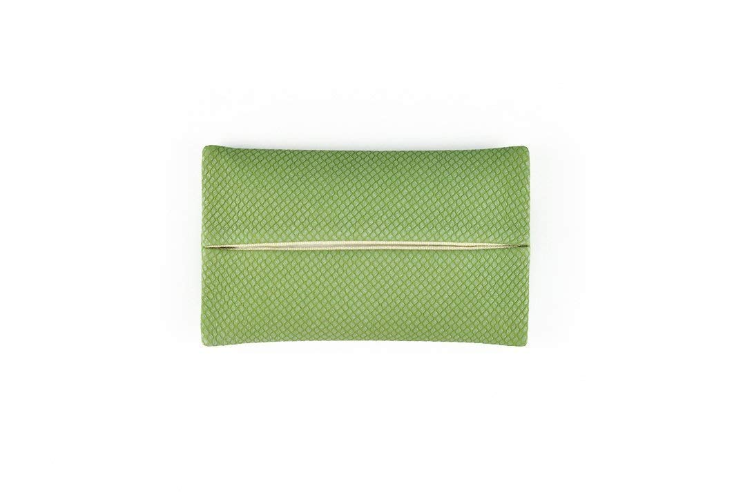 「Thing.Is」PU Leather Pocket Tissue Holder, Travel Tissue Holder, Portable Tissue Case, Tissue Pouch, Green