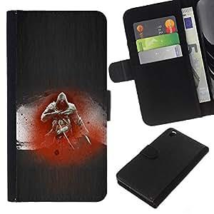 // PHONE CASE GIFT // Moda Estuche Funda de Cuero Billetera Tarjeta de crédito dinero bolsa Cubierta de proteccion Caso HTC DESIRE 816 / Assassin /
