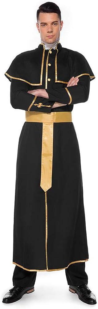 Lbellay Amantes de Halloween COS Jesucristo Sacerdote misionero Masculino Padre Maria Traje de Monja Traje de Juego de Roles