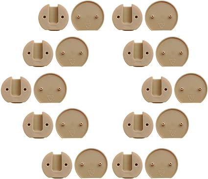 VANKOA 10pcs M/öbelverbinder Kunststoff Eckverbinder Schrankverbinder Verbindungsbeschlag Braun