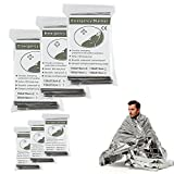 Emergency Thermal Blankets, Survival Reflective Thermal First Aid Foil Blankets