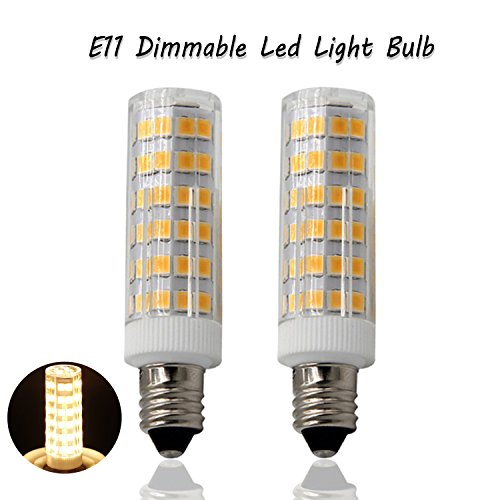 YuYi light E11 Base Led Light Bulb 5W, 45w-55W Equivalent halogen Repalcement 550 Lumens, 110, 120v,130V Warm white 3000k,Dimmable (2 pack) (55w Cylinder)