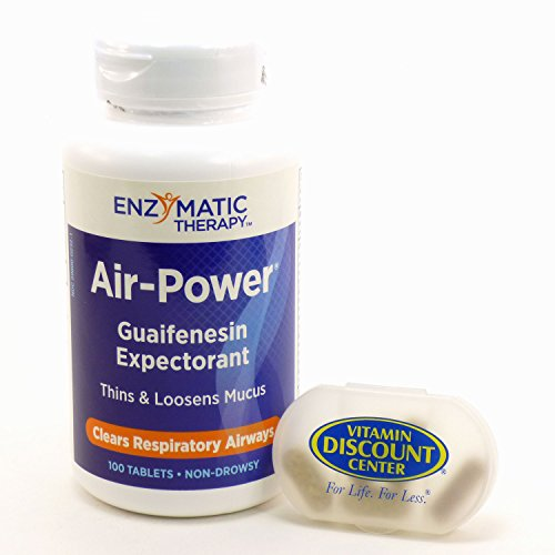 Bundle - 2 Items: 1 Bottle of Air-Power by Enzymatic Therapy - 100 Tablets and 1 VDC Pill Box
